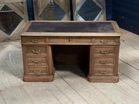 Quality 19th Century French Bleached Pedestal Desk (4 of 25)