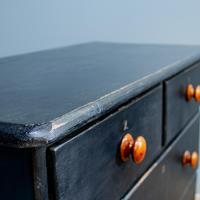Vintage Painted Chest Of Drawers Black (2 of 7)