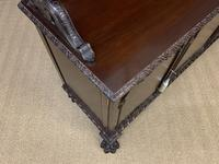 Late Victorian Carved Mahogany Chiffonier (12 of 17)