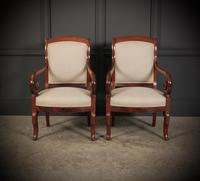 Pair of French Mahogany Empire Chairs (2 of 13)