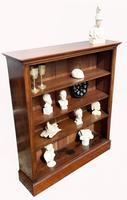 Victorian Mahogany Open Bookcase (2 of 5)