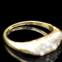 Antique Old Cut Diamond 10 Stone Double Row 18K 18ct Yellow Gold Scroll Ring (6 of 10)