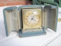 High-Class Art Deco Travel Alarm Clock by Zenith of Switzerland.