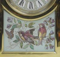 French Belle Epoque Brass and Porcelain Clock Set (15 of 17)
