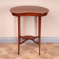 Edwardian Inlaid Mahogany Kidney Shape Occasional Table (4 of 15)