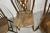Collection of 8 Beech & Elm Country Windsor Chairs (7 of 12)