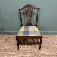 Set of 8 Hepplewhite Design Antique Mahogany Dining Chairs (10 of 10)