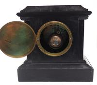 Fine French Slate & Marble Mantel Clock 8 Day Striking Mantle Clock (4 of 10)