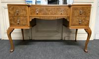 Antique Queen Anne Burr Walnut Dressing Table (5 of 16)