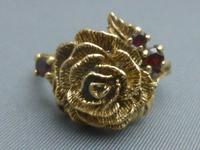 9ct Gold Ruby Flower Head Ring (3 of 6)
