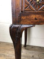 Antique 19th Century Carved Oak Lowboy Side Table (16 of 17)
