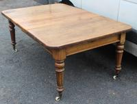 1900's Country Pine Pull out Table with One Leaf (5 of 5)
