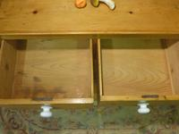 Victorian Stripped Pine Chest with 4 Drawers & White Porcelain Knobs (2 of 9)