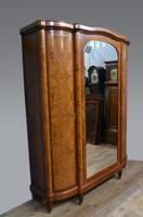 Large Antique French Aboyna Triple Wardrobe (2 of 4)