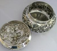 Superb Large American Sterling Silver Pot Box Tea Caddy S Kirk c.1900 (8 of 10)