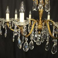 French Pair of 8 Light Antique Chandeliers (4 of 10)