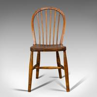 Antique Stick Back Chair, English, Elm, Beech, Station Seat, Victorian c.1870 (9 of 12)