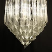 Italian Venini Crystal Triple Light Chandelier (9 of 10)