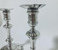 Pair of Antique Georgian 18th Century Solid Sterling Silver Candlesticks (6 of 23)