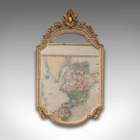 Antique Gesso Wall Mirror, Italian, Giltwood, Glass, Shield, Victorian c.1900 (2 of 10)