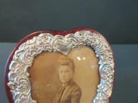 Antique Silver Heart Shaped Photo Frame (3 of 5)