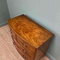 Small Bow Fronted Regency Antique Chest of Drawers (4 of 6)