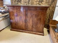 Large Burr Walnut Two Door Inlaid Cupboard (8 of 8)