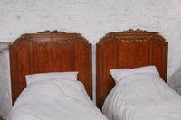 Handsome Pair of Parquetry Large Single Beds (4 of 10)