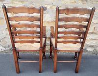 Set of 12 Oak Ladder Back Dining Chairs - Royal Oak Furniture (11 of 15)