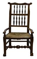 """19th Century Lancashire """"Wheatear"""" Spindleback Low Armchair (4 of 5)"""