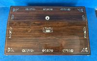 William IV Rosewood Lap Desk with Mother of Pearl Inlay (8 of 12)