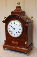 Mahogany & Inlay Bracket Clock (8 of 11)