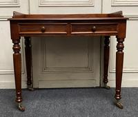 Victorian 2 Drawer Writing Table or Desk (10 of 16)