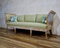Elegant 18th Century Gustavian Dry Scraped Sofa Lindome c.1790 (6 of 14)