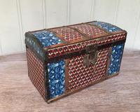 Colonial Dome Top Tin Casket (2 of 9)