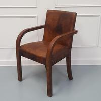 Library Leather Desk Chair c 1930