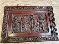 A 19thc Mahogany Carved Relief Panel Depicting Tudor Interior Scene (2 of 7)