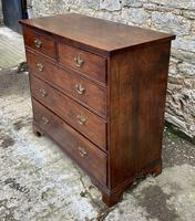 Antique Oak Chest of Drawers with Crossbanded Edge (5 of 17)