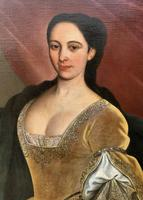 Huge Early 18th Century French Oil Portrait Painting of 'Lucy Webb, Heiress of Ashwick' (8 of 17)