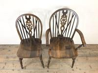 Set of Six 20th Century Wheelback Chairs including Two Carvers (4 of 20)
