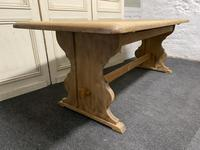 Bleached Oak Refectory Farmhouse Dining Table (9 of 13)