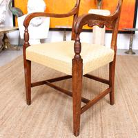 Armchair Fruitwood Desk Library Chair 19th Century Victorian Carved (8 of 11)