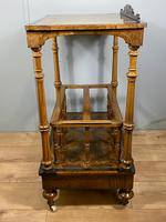 Victorian Inlaid Walnut Canterbury What Not (3 of 11)