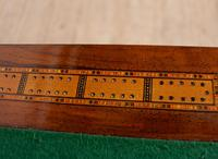 Rosewood Games Table Chess Board Folding Card Table 19th Century (16 of 16)