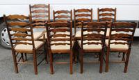 1960s Set of 8 Ash Ladderback Dining Chairs - 2 Carvers + 6 Chairs (3 of 4)