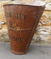 Chateauneuf Du Pape French Galvanised Metal Grape Pickers Hod / Bucket (5 of 6)