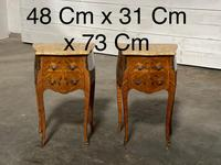 Quality Pair of French Marquetry Bedside Drawers (21 of 22)