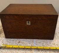 Small Oak Box - Possibly A Tea Caddy (2 of 8)