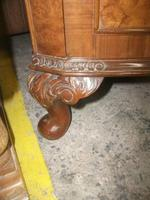 Glazed Burr Walnut Corner Cabinet (6 of 7)