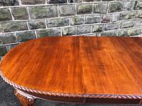 Antique Mahogany 9ft Wind Out Extending Dining Table (9 of 14)